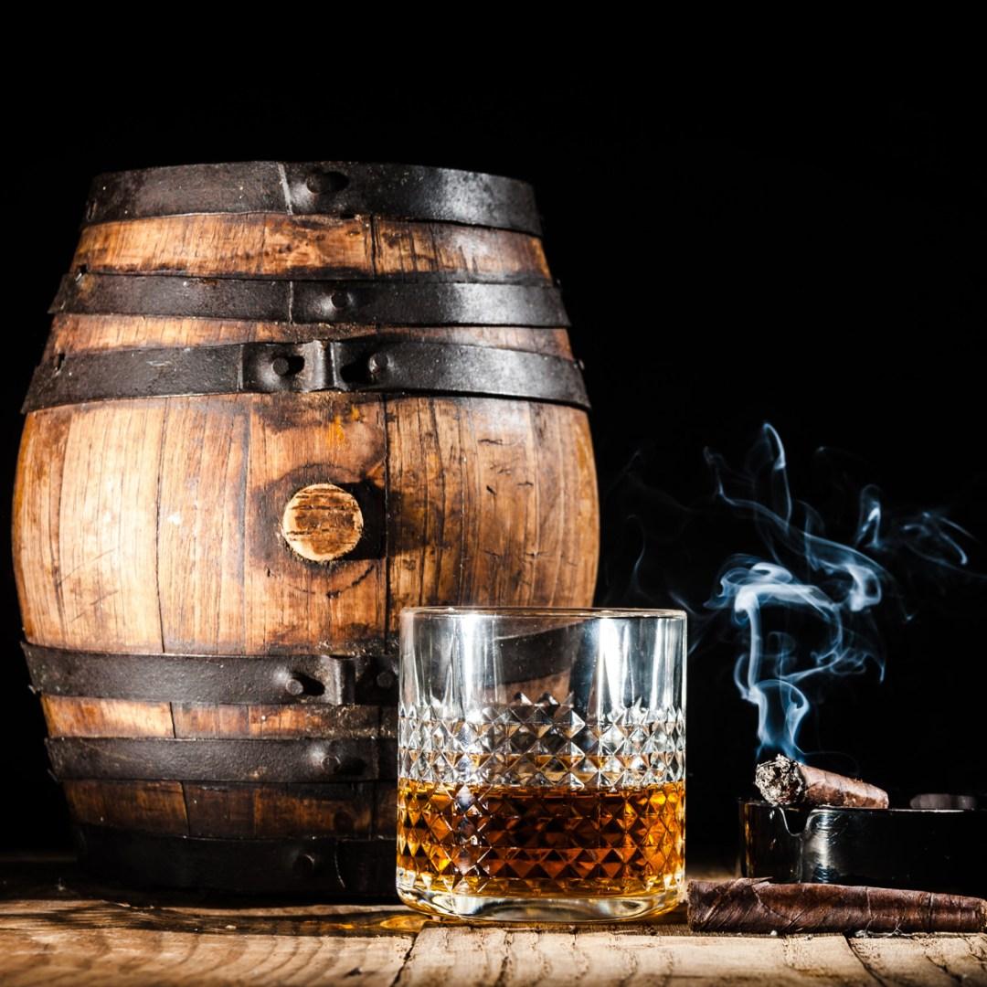 Old Rum Barrel and Cigar