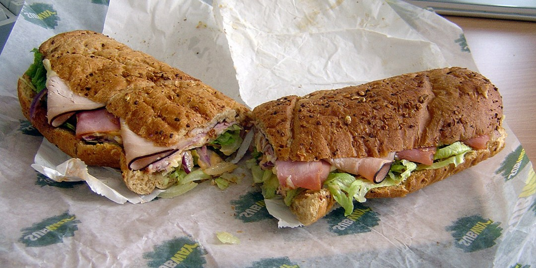 "A very ""meh"" looking Subway ""sandwich"""