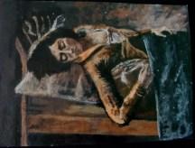 Sleeping Girl - Balthus Copy