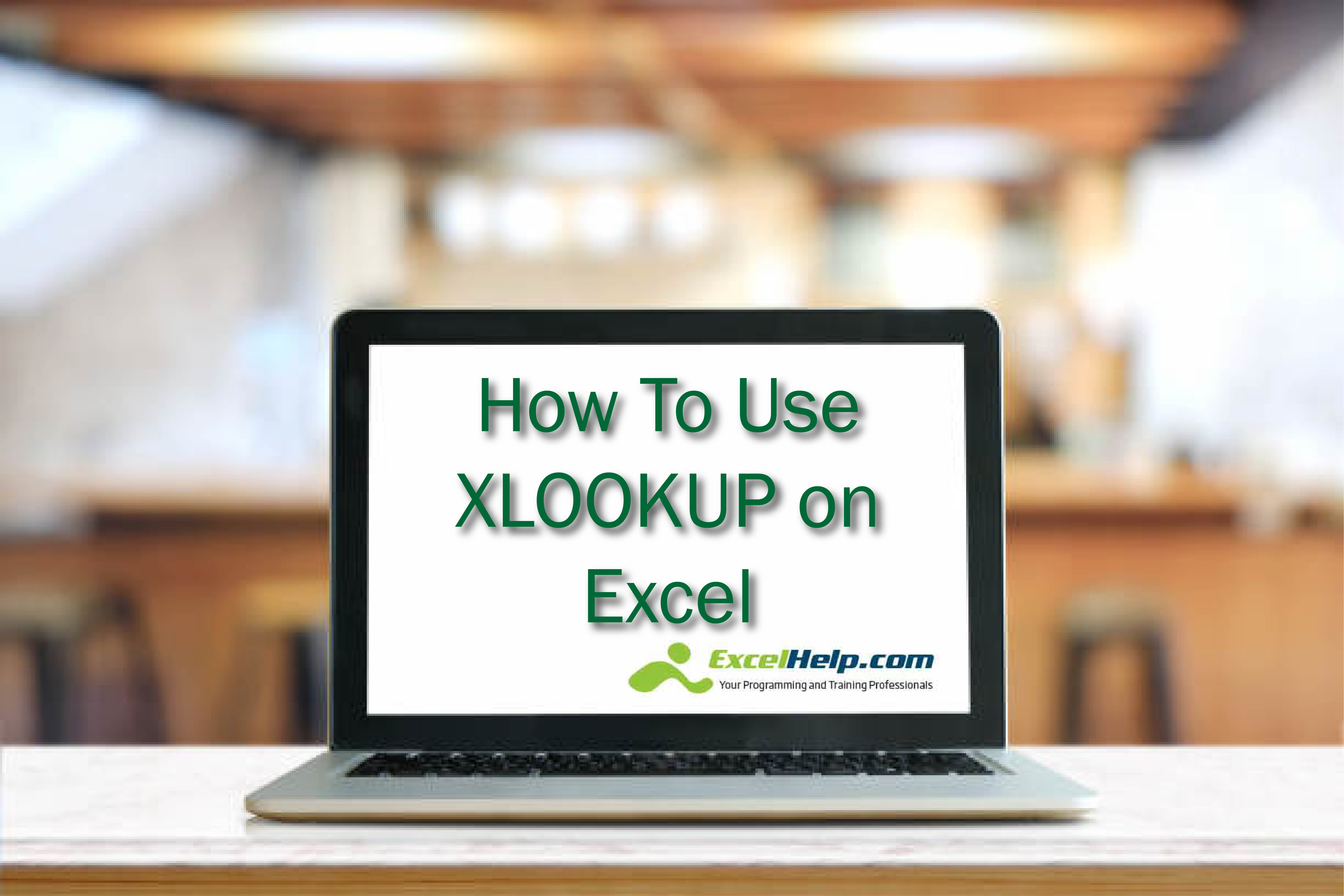 How To Use Xlookup On Excel