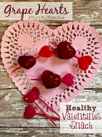 Grape Hearts Perfect Healthy Snack For Valentines Day