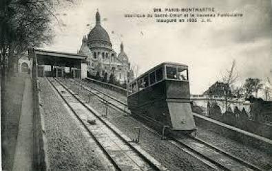 Funiculaire de Montmartre rétro