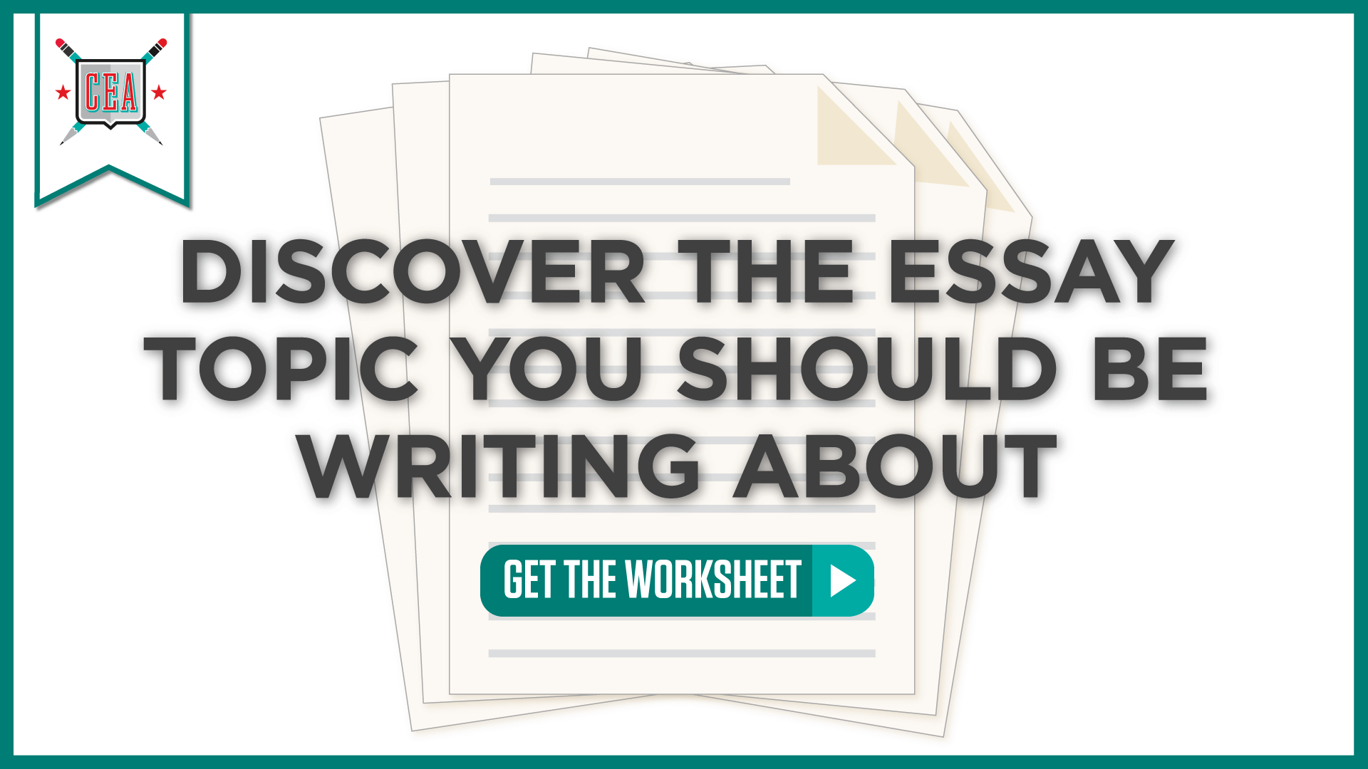 Discover The Essay Topic You Should Be Writing About