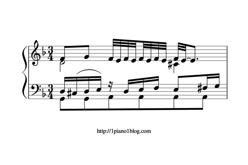 Bach, Marcello ornements au piano mesure 40