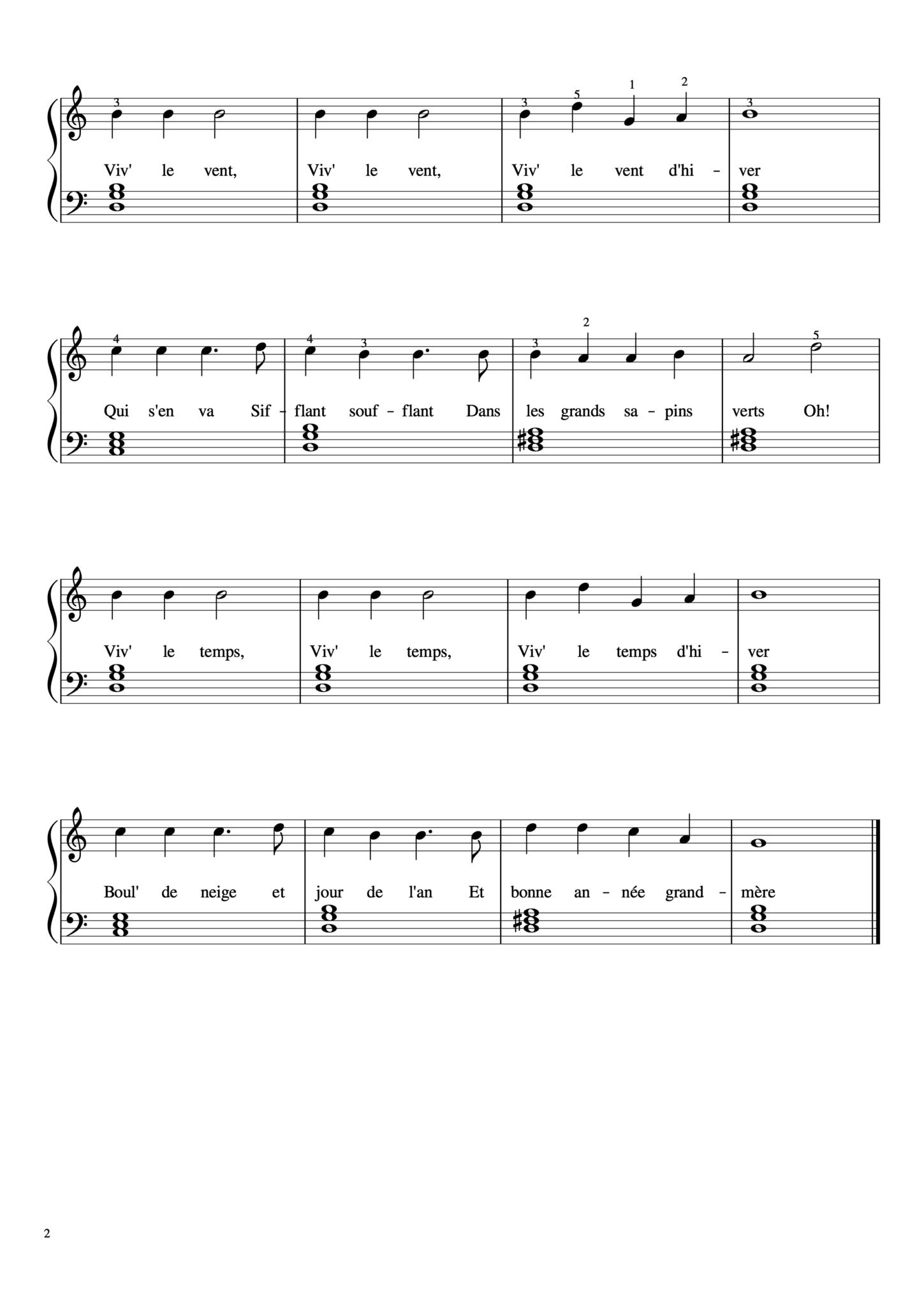 partition guitare ecoute dans le vent