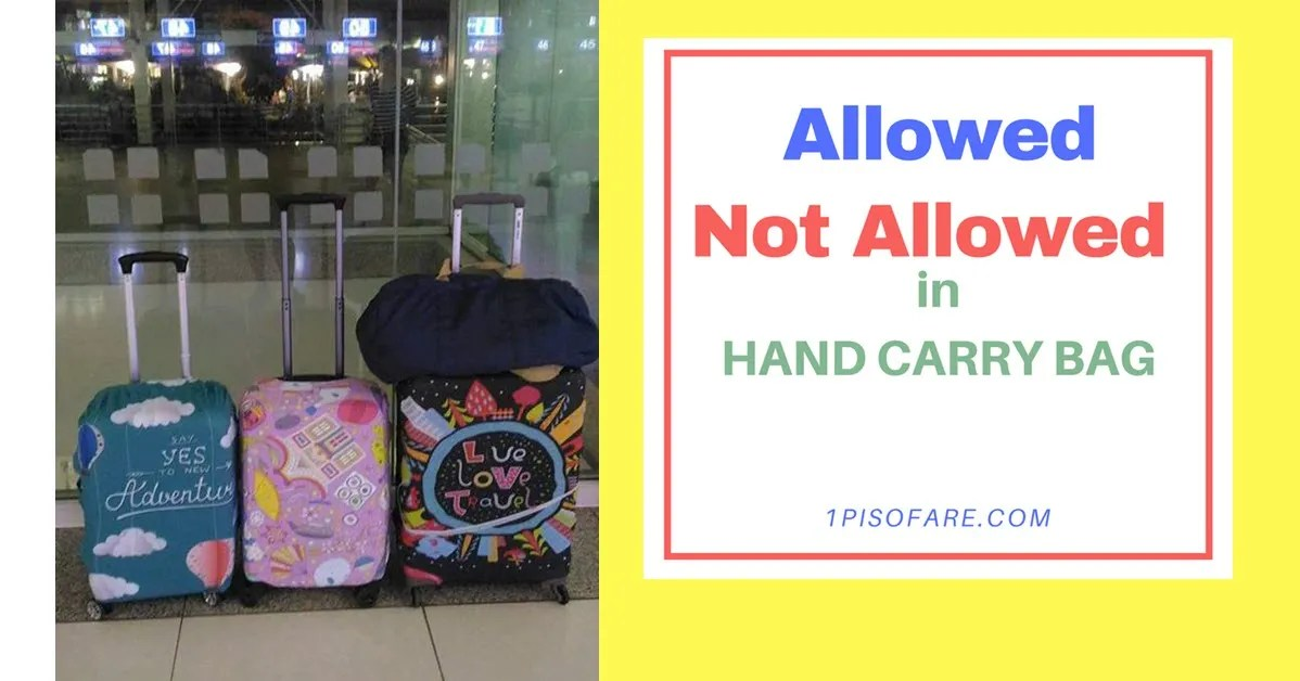 allowed and not allowed in hand carry