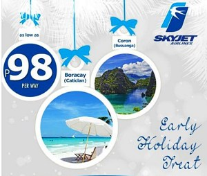 98 Pesos SKYJET Airlines Promo Fare to Coron and Boracay 2015 to 2016