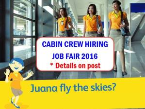 Cebu Pacific Female Cabin Crew Hiring 2016: Manila, Cebu, Davao