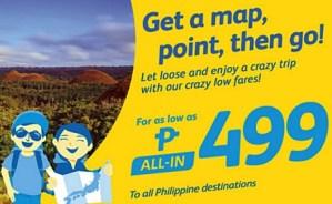 Cebu Pacific 499 Pesos and more for July, August, September, October, November, December