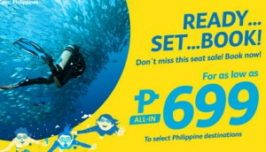 Cebu Pacific 699 Pesos Promo for January, February, March 2017 Flights