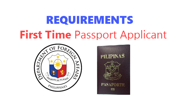 requirements for first time passport applicant