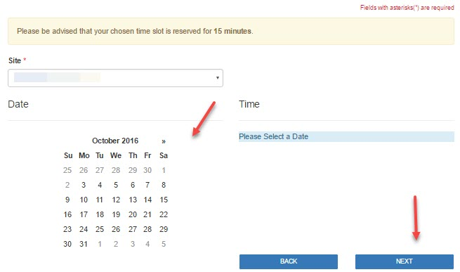 select date for passport appointment schedule