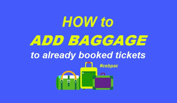 add baggage cebu pacific booking