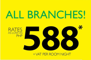 Go Hotels Promo ALL BRANCHES for as low as 588 Pesos