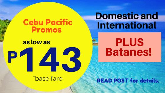 Cebu Pacific 143 promos