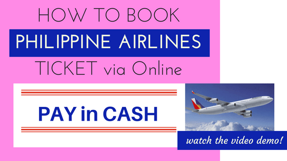 online booking philippine airlines and pay cash