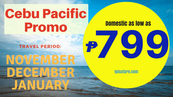 Cebu Pacific Promo Fare November December 2018 To January