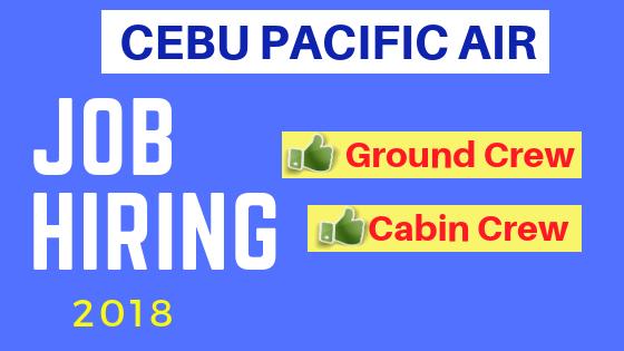 cebu pacific JOB HIRING 2018