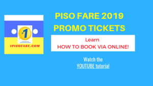 Cebu Pacific Piso Fare 2019 HOW TO BOOK PROMOS via Online