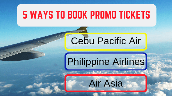 options how to book promos airfare