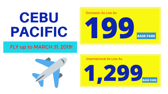 promo fares up to march 2019