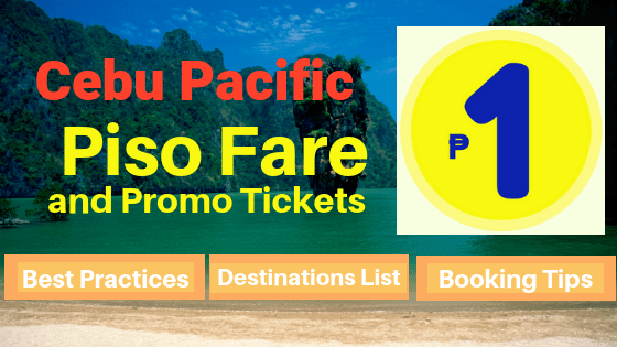Cebu Pacific piso fares 2019 promotions
