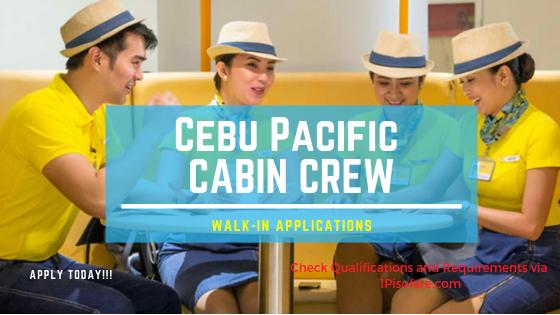 cabin crew hiring Cebu Pacific