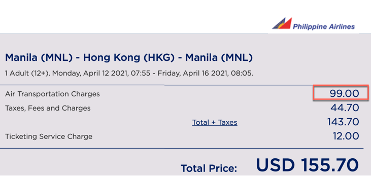 manila to hong kong promo philippine airlines