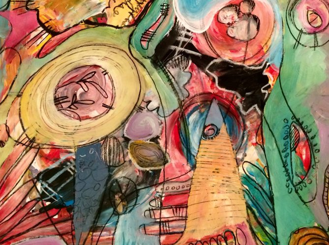 """Mary Beth Shaughnessy """"Untitled"""" painting"""