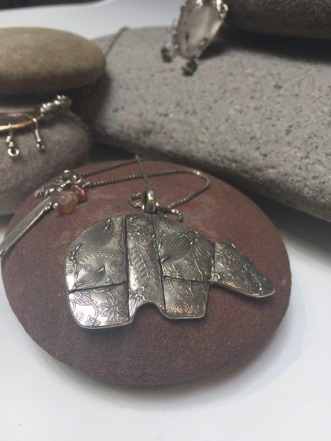 Bear pendant by Kris Kramer of Whitefish, Montana