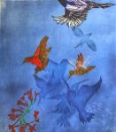 Carol Montgomery linocut, stencil and drypoint