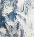 Maureen Shaughnessy drypoint etching