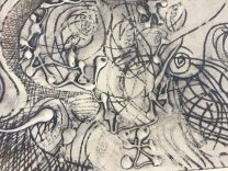 Detail of Drypoint Collagraph by Maureen Shaughnessy