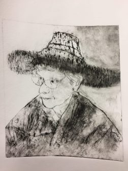 Drypoint Self Portrait