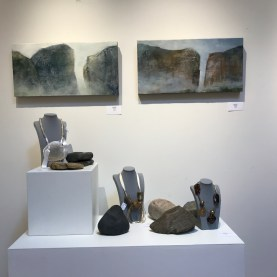 Erika James Encaustics and Bonnie Lambert Necklaces