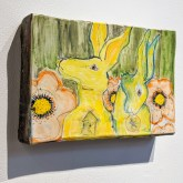 Wall piece with Hare in Garden by Trudy Skari