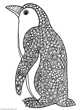coloring pages of penguins # 9