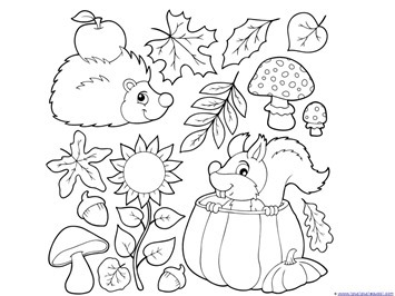 fall coloring pages # 8