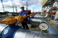 "Работник ""Газпрома"" на газохранилище"
