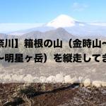 【神奈川】箱根の山(金時山〜明神ヶ岳〜明星ヶ岳)を縦走してきた。