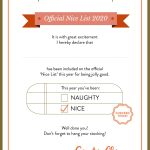 Free Downloadables Dear Santa Letter Official Nice List Certificate