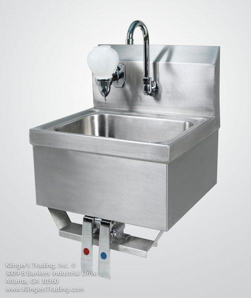 hands free hand sink foot pedal