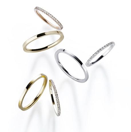 ティナリング|AHKAH(アーカー) ハーフエタニティリング/結婚指輪