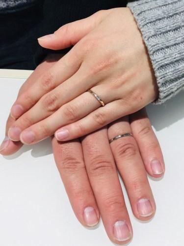 結婚指輪 誕生石 アクアマリン