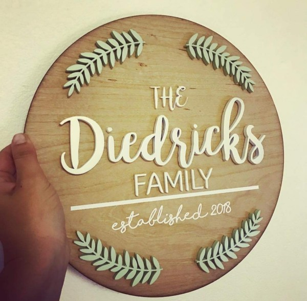 family Board Christmas Gift or Decor