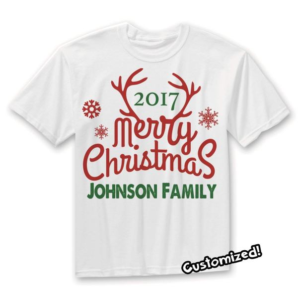 date and Name Christmas Customised Shirts