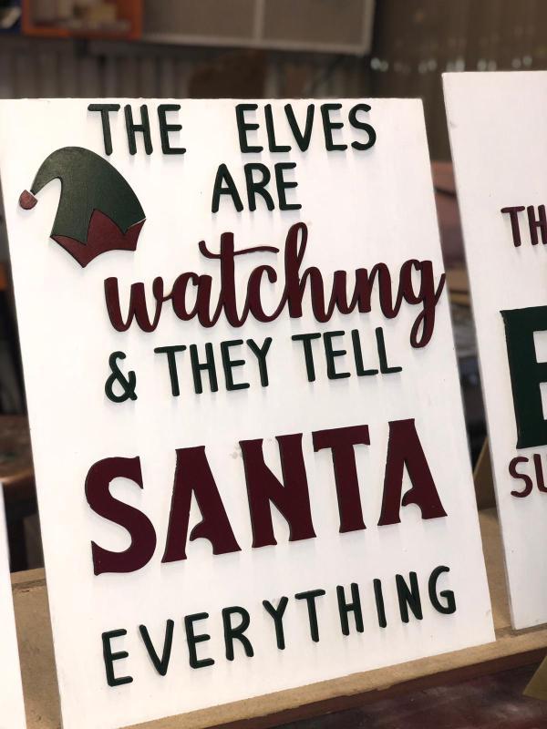 Elves tell santa