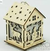Wooden Village house light