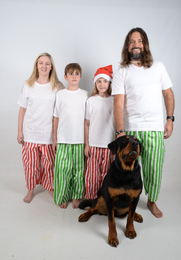 Green, Red and White Stripes Jammies 13
