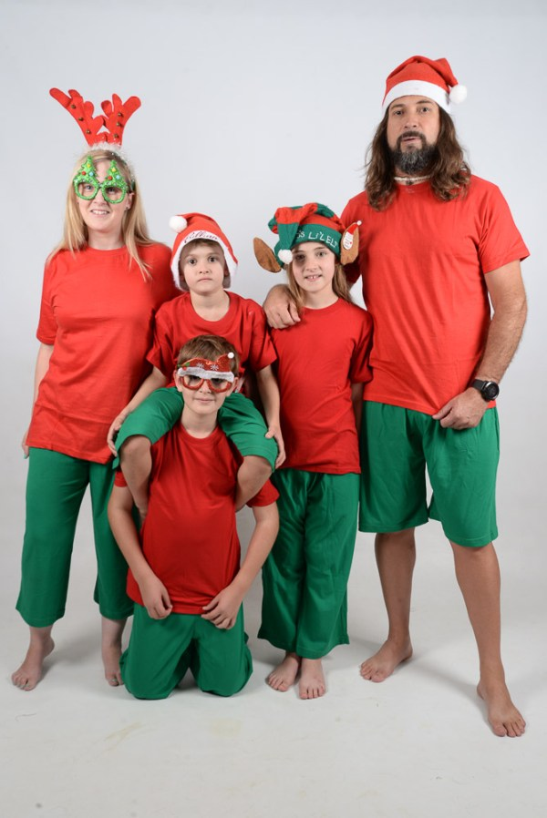 Family Xmas Red and Green Jammies